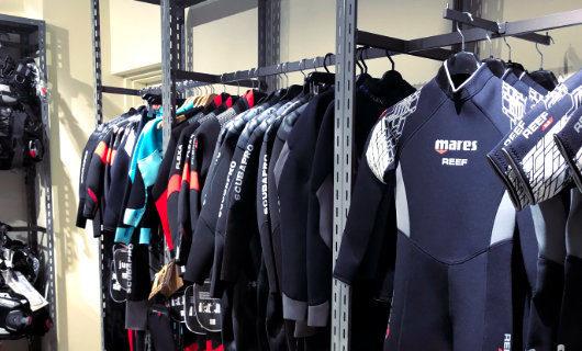Scuba diving section